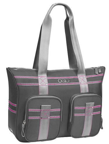 """Деловая женская сумка с отделом для ноутбука 13"""" OGIO Lisbon Tote 114011.442 Gray/Pink"""