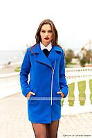 Женское кашемировое пальто на молнии до середины бедра