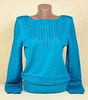 Пуловер кофта джемпер женский Новинка сезона Голубой р.46-48
