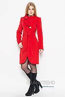 Женское  зимнее кашемировое красное  пальто