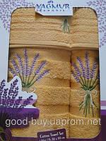 Комплект полотенец Yagmur махра - салфетка + лицо + баня Турция 048 -1