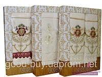 Комплект полотенец Vevien 6 шт махра - 2 салфетка + 2 лицо + 2 баня Турция 052