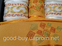 Комплект полотенец Duet 4 шт 100%  cotton  махра 2 шт баня + 2 шт лицо   Турция -1