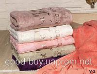 Комплект полотенец лицо Maxi Soft 7 бамбук махра  6шт 50х90 Турция -1