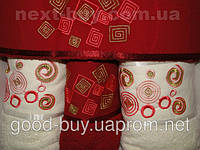 Комплект полотенец Pure Bath Collection 4 шт 100%  cotton  махра 2 шт баня + 2 шт лицо Турция e50 -2