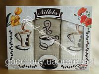 Комплект кухонных полотенец с чашечками Nilteks 3шт: 50х70 Турция