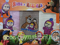 Комплект полотенец Маша и Медведь вафелька кухня 3шт 50х70 Турция   pr-149