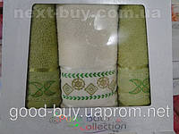 Комплект полотенец Pure Bath Collection махра - 2 лицо + баня Турция e37 -1