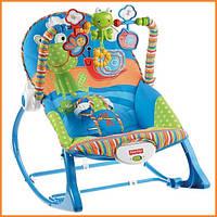 """Детское массажное кресло-качалка, кресло-шезлонг Fisher Price """"Жабка, Snails"""""""