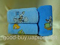 """Комплект из 3 кухонных полотенец с рыбками Cestepe  """"Nakisli"""" vip cotton Tурция"""