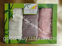 Комплект бамбуковых кухонных полотенец Cestepe  3шт: 40х60  Турция