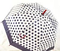 Зонт-трость женский в горошек, купол 86 см