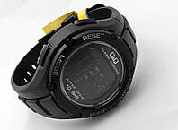 Часы  водостойкие Q@Q  10Bar Pro Black, можно плавать, противоударные, m129j002y