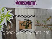 Набор бамбуковых кухонных полотенец Nazenin  3шт. Tурция