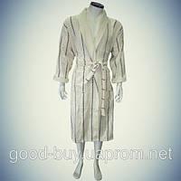 Мужской халат с воротником - хлопок - Турция   pr-hm543