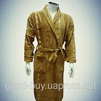Мужской халат с воротником - хлопок - Турция   pr-hm537