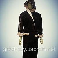 Мужской  халат с капюшоном  Alchera  микрофибра - Турция