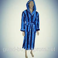 Мужской халат с капюшоном - микрофибра - Турция   pr-hm504