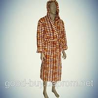 Мужской халат с капюшоном - микрофибра - Турция   pr-hm505