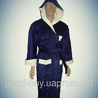 Мужской халат с капюшоном - хлопок - Турция   pr-hm515