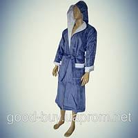 Мужской халат с капюшоном - хлопок - Турция   pr-hm509