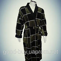 Мужской халат с воротником - хлопок - Турция   pr-hm525