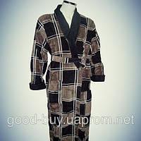 Мужской халат с воротником - хлопок - Турция   pr-hm522