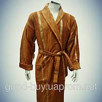 Мужской халат с воротником - хлопок - Турция   pr-hm516