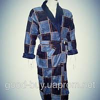 Мужской халат с воротником хлопок Турция   pr-hm520
