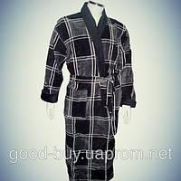 Мужской халат с воротником - хлопок - Турция   pr-hm523