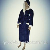 Мужской халат с капюшоном - хлопок - Турция   pr-hm508