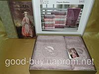 Комплект полотенец SIKEL  Bamboo Lady  с камнями  лицо+баня Турция   pr-v139