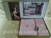 Комплект полотенец SIKEL  Bamboo Lady  с камнями  лицо+баня Турция   pr-v137