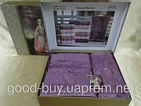 Комплект полотенец SIKEL  Bamboo Lady  с камнями  лицо+баня Турция   pr-v140