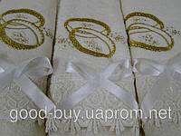Комплект полотенец Merzyka 3 Свадебные Cotton лицо (2) +баня (1) Турция   pr-c43
