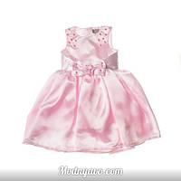 Детское платье нежно розового цвета в садик