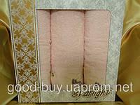 """Комплект полотенец Starling """"Ромашка"""" 100% Cotton лицо (2) +баня (1) Турция pr-с55"""