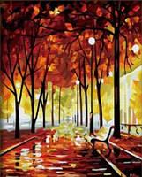 """Картина по номерам на холсте """"Осенний парк"""" 5256"""