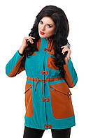 Женская демисезонная молодежная куртка средней длины плащевка