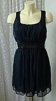 Платье туника женское шикарное нарядное вечернее декор мини р.44 от Chek-Anka