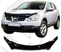 Дефлектор капота  Nissan QASHQAI c 2006,  Мухобойка Nissan QASHQAI