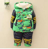 Теплая куртка со штанами для мальчика, 3 цвета