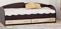 Кровать с выдвижными ящиками К-117 (венге/дуб молочный)