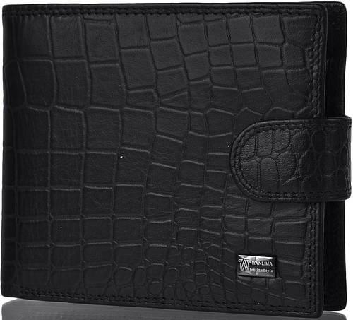 Мужское классическое кожаное  портмоне WANLIMA (ВАНЛИМА) W620437902501-black