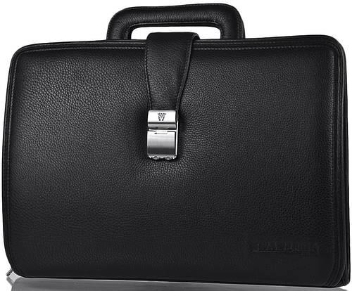 Портфель кожаный мужской на ремне Wanlima W62015010913-black