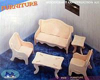 Конструктор деревянный sea-land  «Мягкая мебель»  2-е  пластины