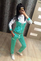 Спортивный костюм женский Adidas мята , магазин спортивных костюмов