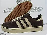 Мужские кеды Adidas коричневые, замшевые