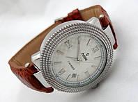 Механические часы РЕКОРД classic, механика с автозаводом, коричневый ремешок, 17 камней