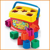 Детские развивающие игрушки Fisher Price ведерко сортер